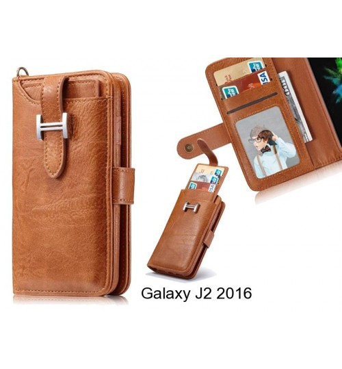 Galaxy J2 2016 Case Retro leather case multi cards cash pocket