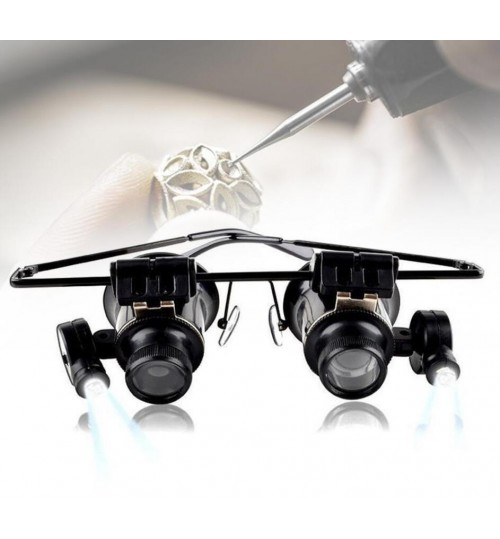 Magnifying Glasses 20X Jewellery Repair Magnifier with LED Light