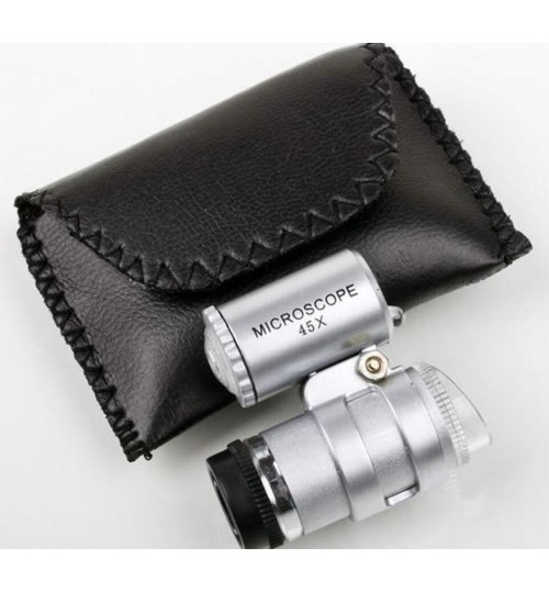 LED Microscope Magnifier 45x with Pouch