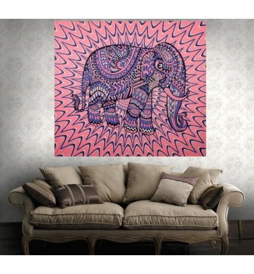 Elephant Mandala Tapestry Wall Hanging Cloth Yoga Mat Beach Throw