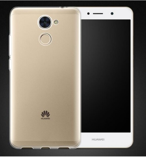 Huawei Y7 Prime case crystal clear gel ultra thin+SP