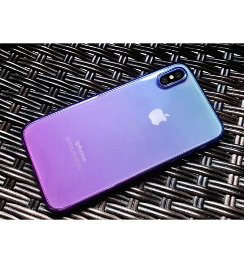 iPhone X  TPU Soft Gel Changing Color Case