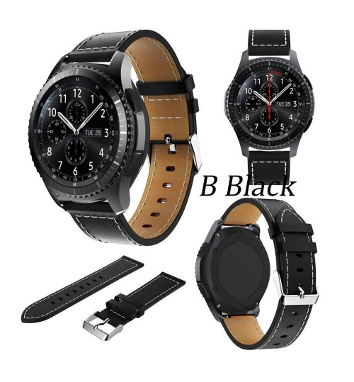 Luxury Leather Watch Band Wrist Strap for Samsung Gear S3