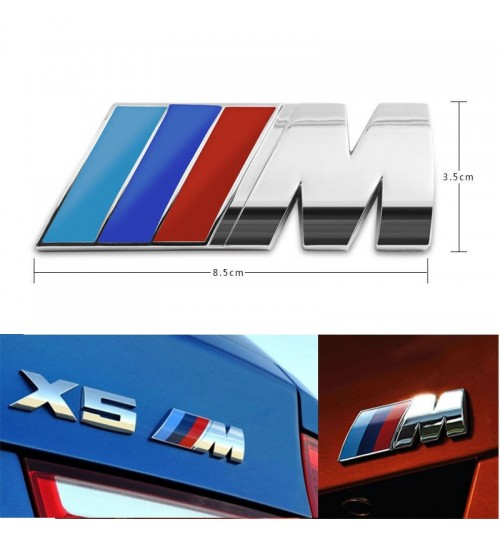 3D Badge M Power FOR BMW Metal Car Sticker Emblem Badge Decal