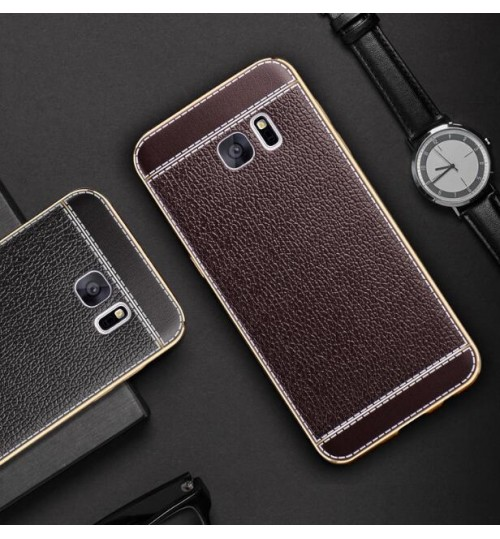 Galaxy J5 PRO 2017 case Slim Bumper with back TPU Leather soft Case