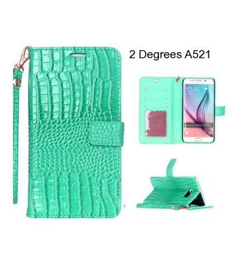 2 Degrees A521 case Croco wallet Leather case