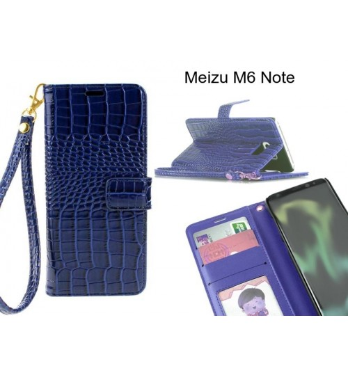 Meizu M6 Note case Croco wallet Leather case