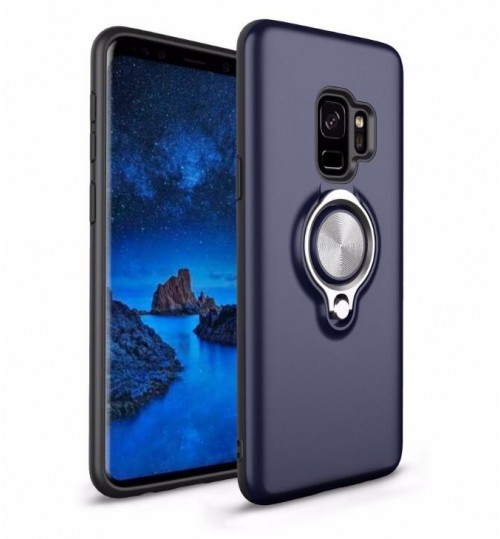 Galaxy S9 PLUS Case Slim Ring Holder Defender TPU Armor Case Cover