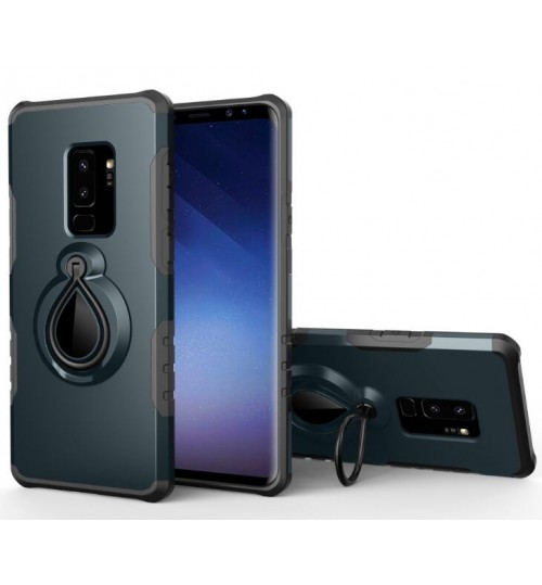 Galaxy S9 Plus CASE Ring Stand Armor Rugged Schockproof Case Cover