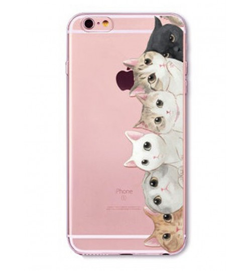 iPhone 5 5s SE case Cat Style Meow TPU Soft Gel Case