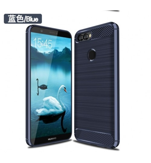 Huawei Y7 Prime 2018 case impact proof rugged case with carbon fiber
