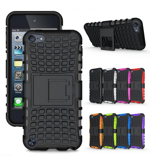 iPod Touch 5 6 Case Heavy Duty Hybrid Kickstand