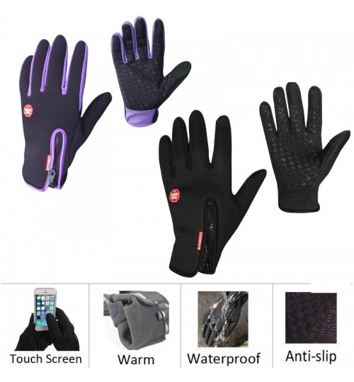 Bikes Motorcycle Glove Winter&autumn Unisex Windproof Touch Screen Sports