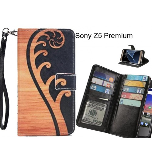 Sony Z5 Premium Case Multifunction wallet leather case