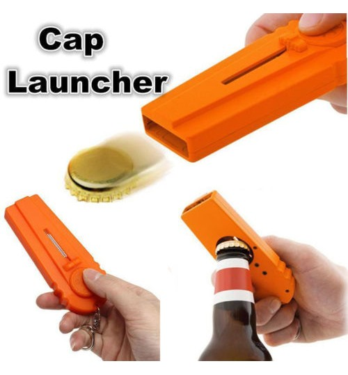 Bottle Cap Launcher Bottle Opener Flying Zappa Beer Drink Bottle Opener