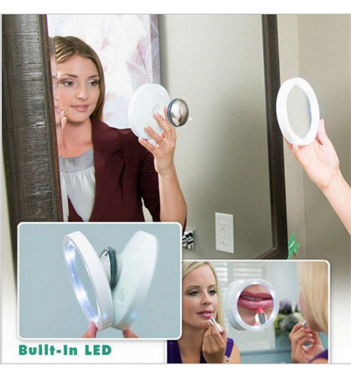 MAKEUP MIRROR WITH 360 Degree LED  8x Magnifying MIRROR