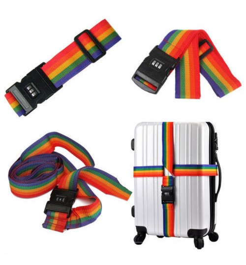 Password Lock Travel Luggage Suitcase Strap Belt Luggage Strap Belt Cord Rope