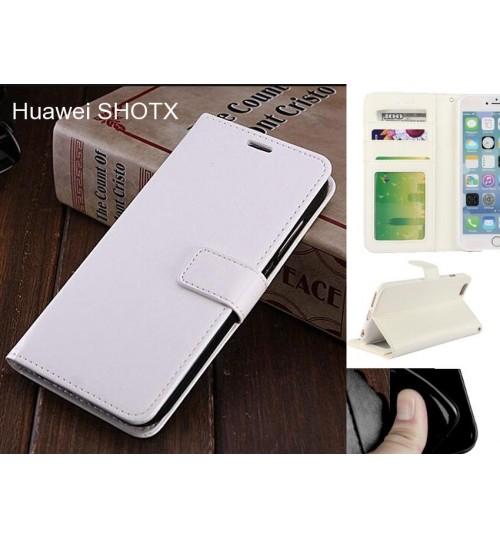 Huawei SHOTX case Fine leather wallet case