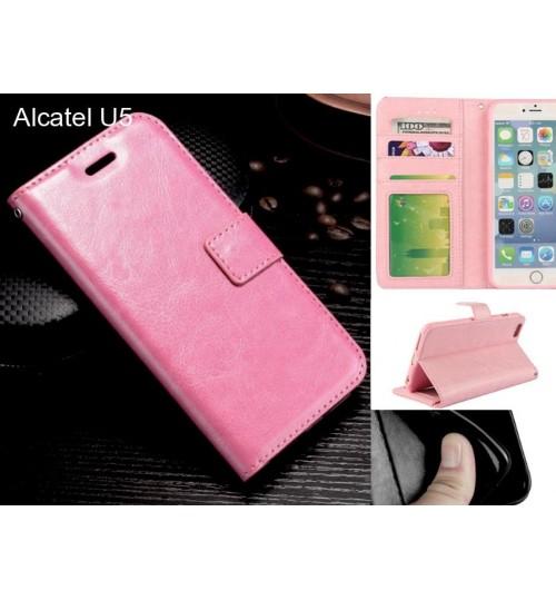 Alcatel U5 case Fine leather wallet case