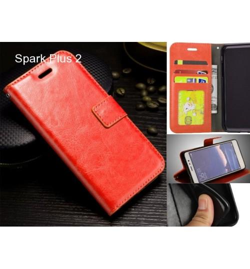 Spark Plus 2 case Fine leather wallet case