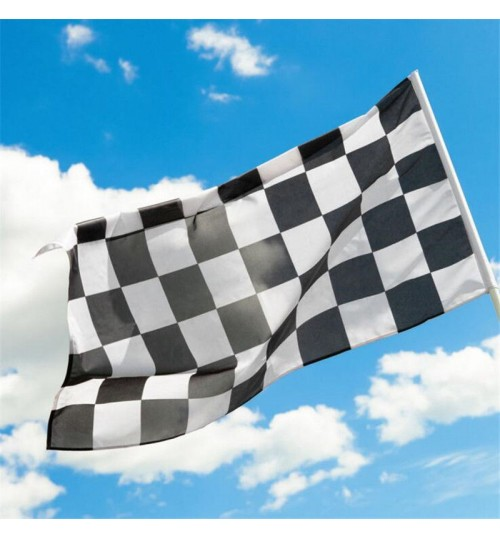 Racing Checkered flag Black and White