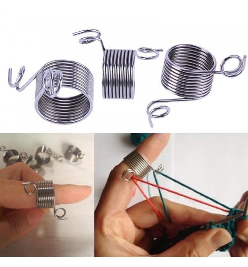 Stainless Steel Finger Threader Yarn Knitting Thread Tool Large