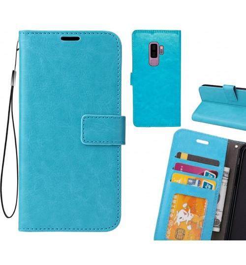 Galaxy S9 PLUS case Wallet Leather Magnetic Smart Flip Folio Case