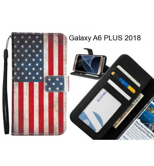 Galaxy A6 PLUS 2018 case 3 card leather wallet case printed ID