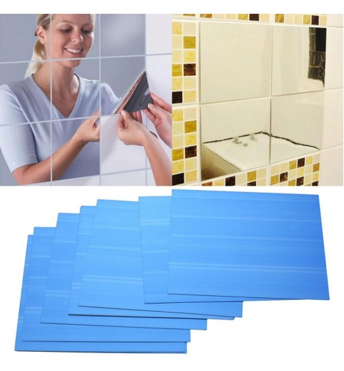 Squares Mirror Wall Stickers 9pcs