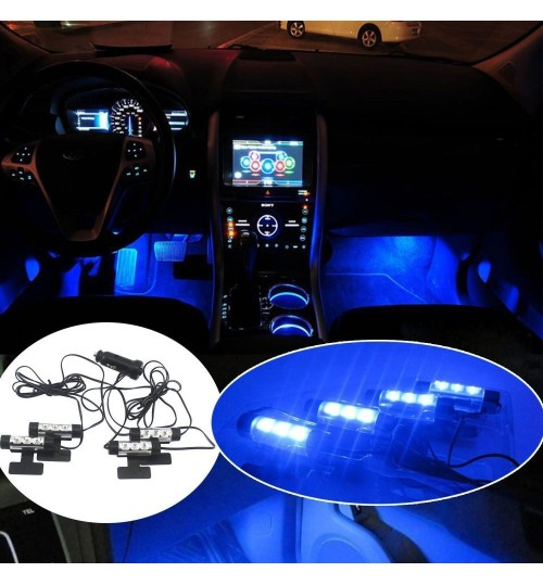 Car Decorative Lights 3LED Blue Car Charge interior Light
