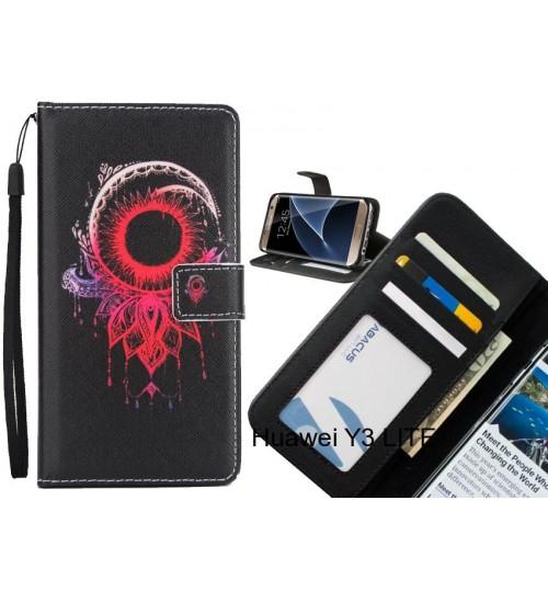 Huawei Y3 LITE  case 3 card leather wallet case printed ID