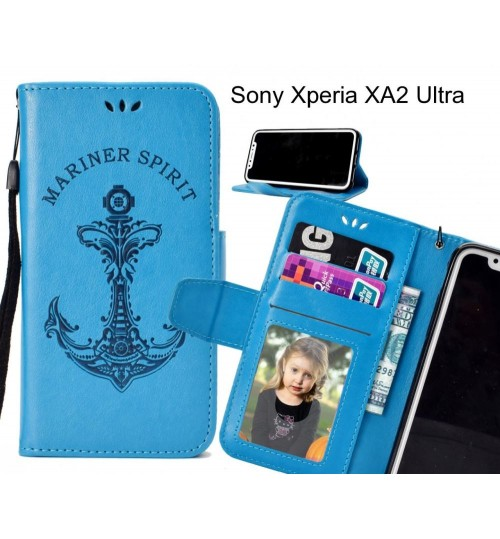 Sony Xperia XA2 Ultra Case Wallet Leather Case Embossed Anchor Pattern