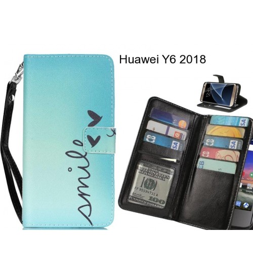 best loved 544a4 7625f Buy Huawei Y6 2018 case Multifunction wallet leather case online at ...