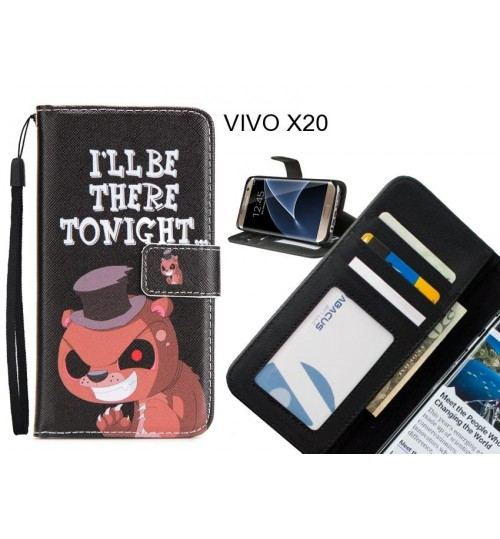 VIVO X20 case 3 card leather wallet case printed ID