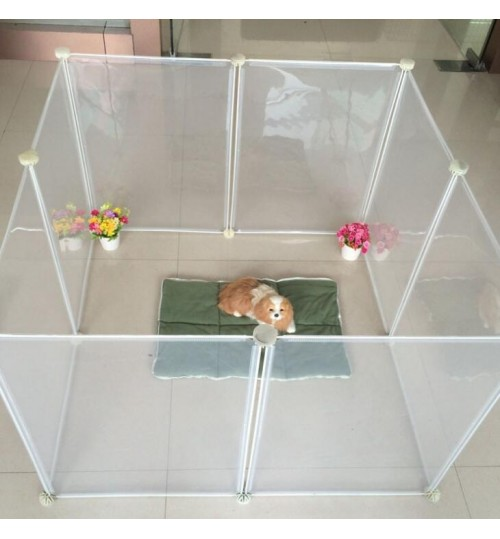 Dog Playpen Portable Large Plastic Yard Fence for small animals
