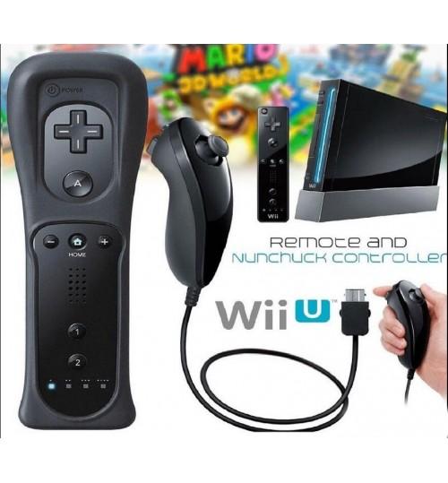 Wii Controller Nunchuck Remote Controller And Nunchuck + Silicon Case