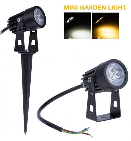 Garden Spot Lighting 3 LED Lamp Waterproof Light 3W