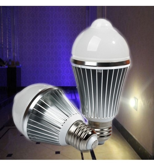E27 LED Bulb motion sensor 5W COOL White