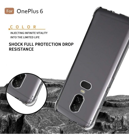 Oneplus 6 case crystal clear gel ultra thin