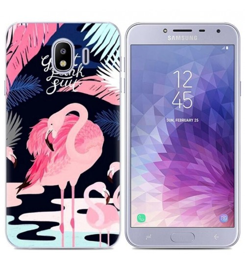 Galaxy J4 Case Printed Soft Gel TPU Case