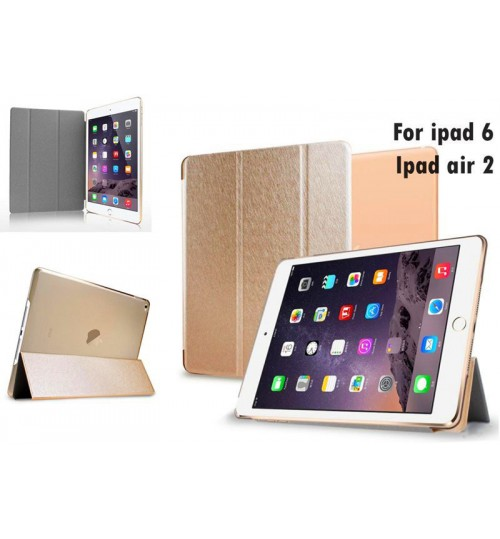 iPad air 2 case Ultra slim smart case cover gold +PEN