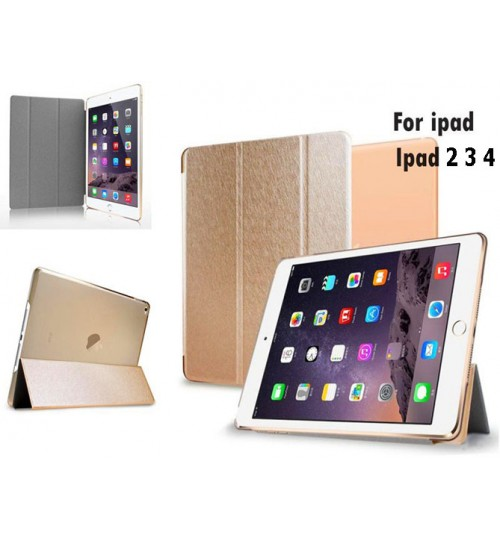 Ipad  2 3 4 Ultra slim smart case gold +PEN