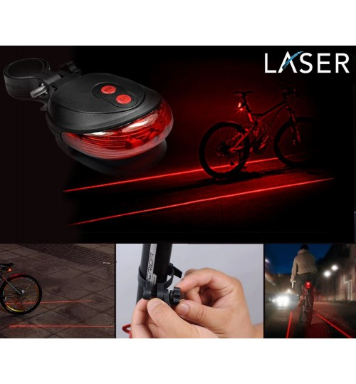 Bike Cycling Laser Tail Light 2 Laser and 5 LEDs very cool rear bike light