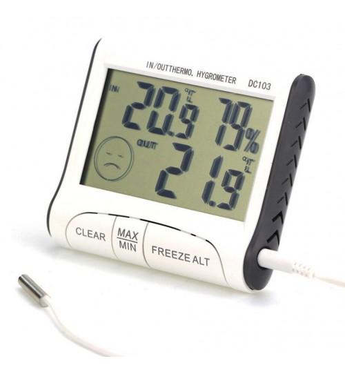 Indoor Outdoor Digital LCD Thermometer Hygrometer