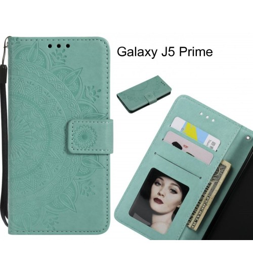 Galaxy J5 Prime Case mandala embossed leather wallet case