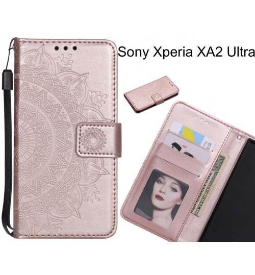 Sony Xperia XA2 Ultra Case mandala embossed leather wallet case