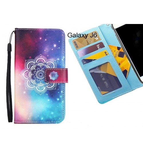 Galaxy J6 case 3 card leather wallet case printed ID