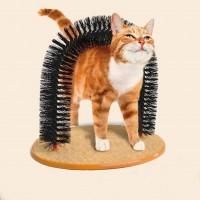 Purrfect Arch Groom Toy Pet Cat Kitten Arch Scratch Massager Toy