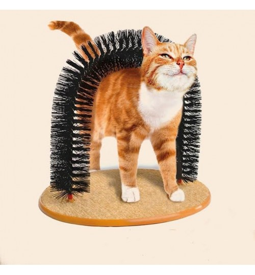 Purrfect Arch Groom Toy Pet Cat Kitten Arch Scratch Massager Toy