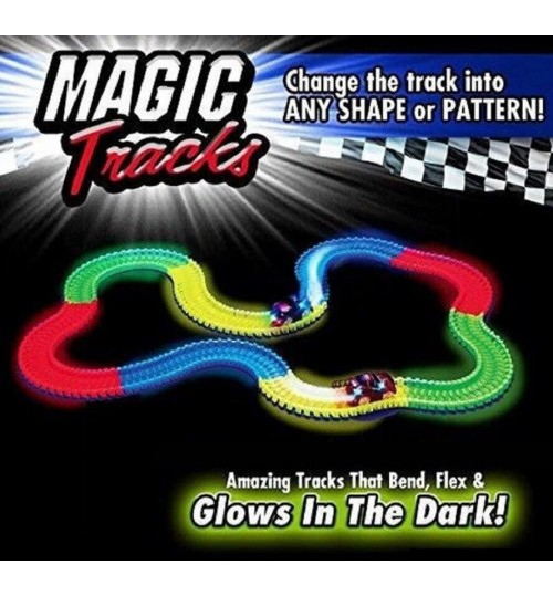 Magic Tracks The Amazing Racetrack that Can Bend, Flex Glow 11Ft 165pcs + 1car